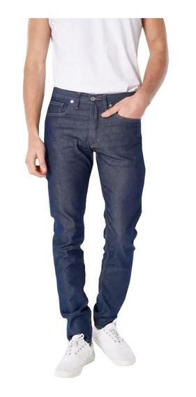 Jeans Hombre Bensimon Standard Leather Blue Slim Recto