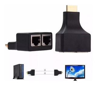 Adaptador Extensor Hdmi X Utp Red Extension Hasta 30 Metros