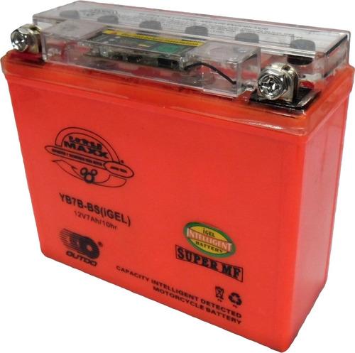 Bateria Gel Shark  Skua  Gtx125  C125  Motard 12v 7ah