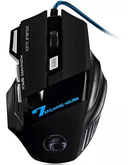 Mouse Gamer Laser X7 2400dpi Usb Led 7 Botões Profissional