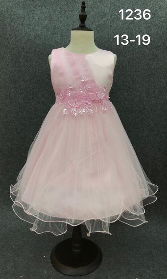 Vestido Importado De Nena Con Tull Super Delicado Para Fiesta Comunion Cumpleaño Eventos Fotografia Talle 4 A 10