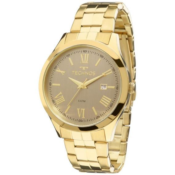 Relógio Technos Dourado Feminino Elegance Dress 2115mgm/4c