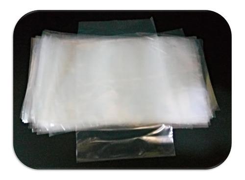 100 Bolsas Plástico Transparente Ancho-13 X Alto-23 Cm Libra