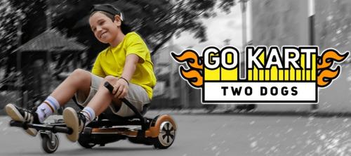 Go Kart Hoverboard Original Two Dogs