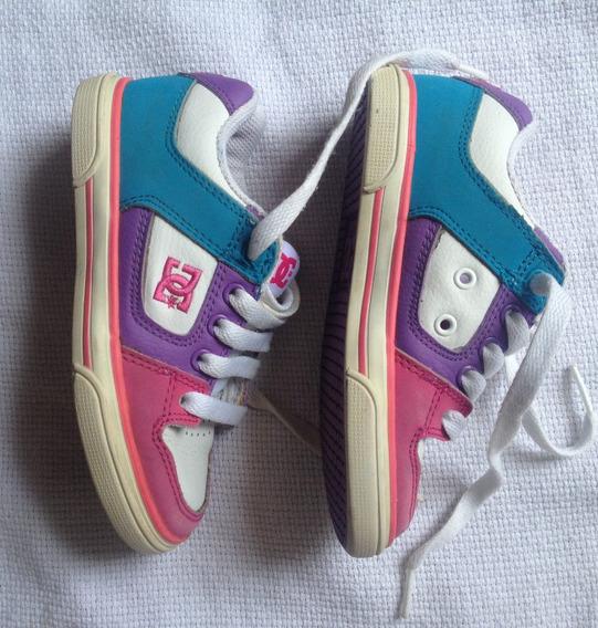 D C. Shoes Zapatillas Niña/o Cuero / Talla 11