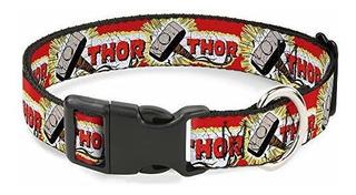 Cuello De Gato Con Hebilla De Abajo Thor Y Hammer Rojoamari