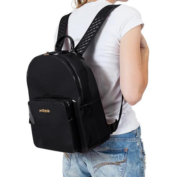 Mochila Feminina Petite Jolie Kit Bag Pj2032 Preta Original