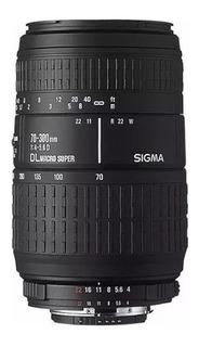 Lente Sigma 70-300mm F4-5.6 Sony Canon Pentax Nikon Cuotas