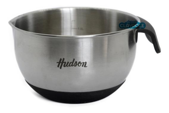 Bowl Batidor Medidor Acero Hudson 16 Cms Asa Y Base Silicona