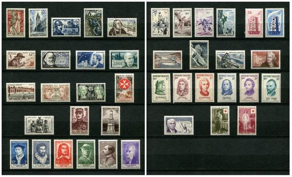 Sellos Francia Año 1956 Completo Yvert 1050-1090 Mnh