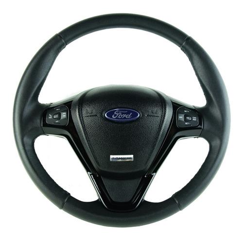 Imagem 1 de 7 de Volante Ford Titanium Comando De Som Led Preto Ka Eco Fiesta