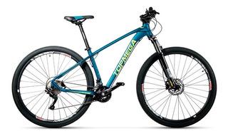 Bicicleta Top Mega Mtb Marathon R29 20v Azul T18 + Kit Fas