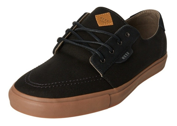 Zapatillas Reef Banyan 2 Black Gum Negro Marron Lona