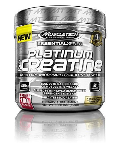 Muscletech Platinum 100% Creatina, Ultra Puro Micronizado De