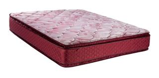 Conjunto Suavegom Cardiff 140x190 C/pillow Resortes_ecocuero