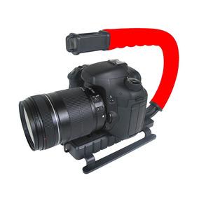 Grip Estabilizador Câmera Dslr Vivitar Vivvpt200 Vermelha