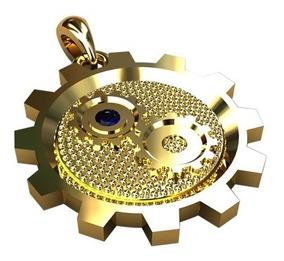 Pingente De Formatura Engenharia Mecânica Ouro 18k