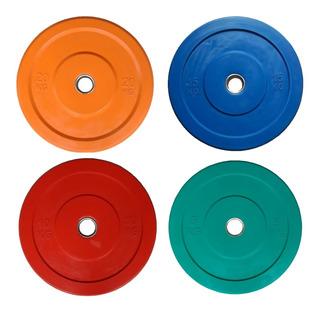 Discos Olímpicos Bumper Color - Crossfit X Kg