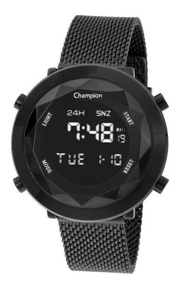 Relógio Champion Unissex Digital Ch48028d Preto Redondo