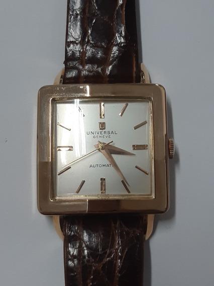 Lindo Relógio Em Ouro Automático Universal Suíço