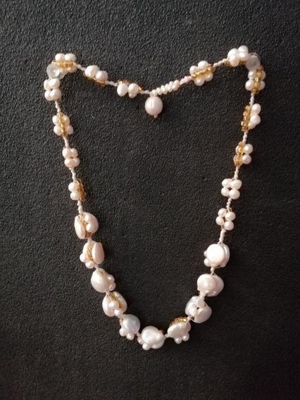 Collar Perla Gota Cultivada