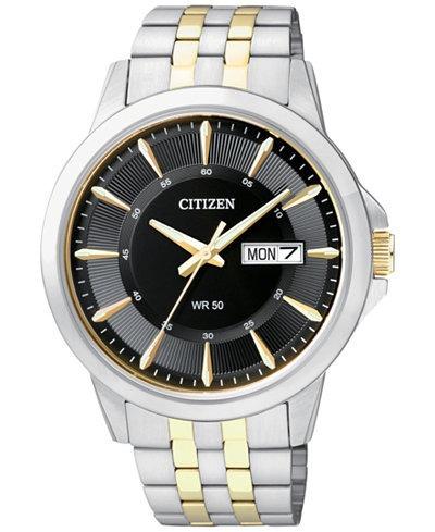 Relógio Citizen Bf2018-52e Masculino Misto Aço Classico