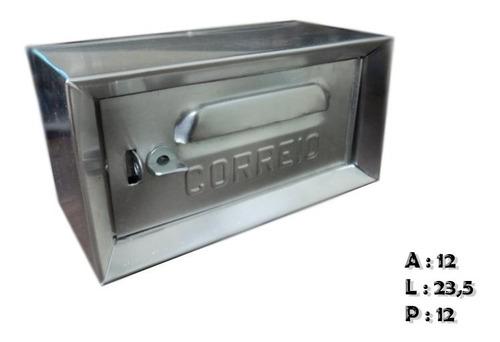 Caixa Carta(correio)alumínio 1/2 Abertura Pela Frente