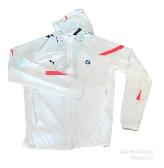 Corta Vento Jaqueta Branca Bmw Corrida Masculino Carro Top