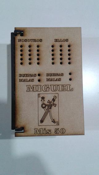 30 Caja Souvenir Truco Naipes Chin Chon Madera Fibrofacil