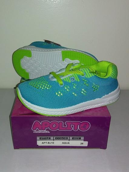 Zapatos Deportivos Marca Apolitos Aqua Nuevos En Su Caja 26