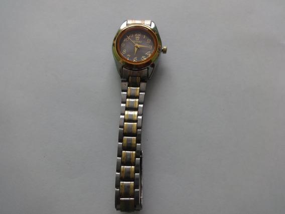 Relógio De Pulso Aço Inox Prateado C/ Dourado Orimet