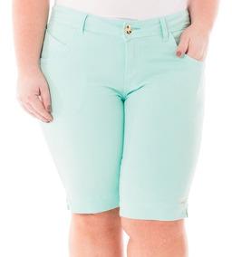 Bermuda Feminina Jeans Roupa Grande Plus Size Bdj134