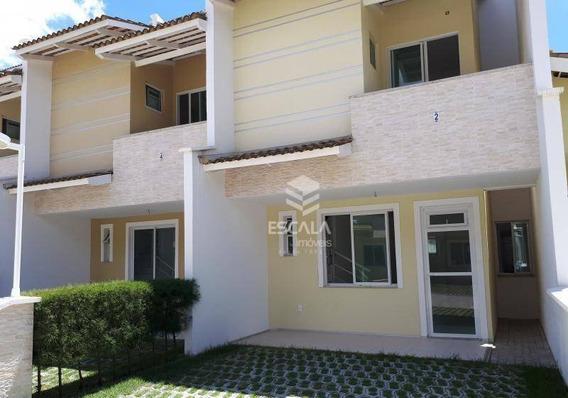 Casa Com 3 Quartos À Venda, 96 M², Nova, Condomínio Fechado, Financia - Lagoa Redonda - Fortaleza/ce - Ca0309