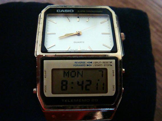 Raro Reloj Casio Ab-200g Gold Data Bank Made In Japan.