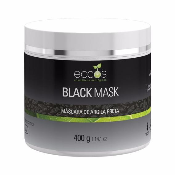 Máscara De Argila Preta Eccos Cosméticos Black Mask 400g