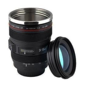 Caneca Térmica Lente Canon Ef 24-105mm 1:4 Usm Câmera Copo.