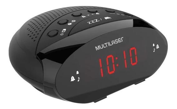 Rádio Relógio Multilaser Digital 3w Rms Fm Preto Sp352 Loi