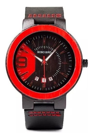 Relógio De Bambu Bobo Bird C/caixa De Madeira J-q20-1