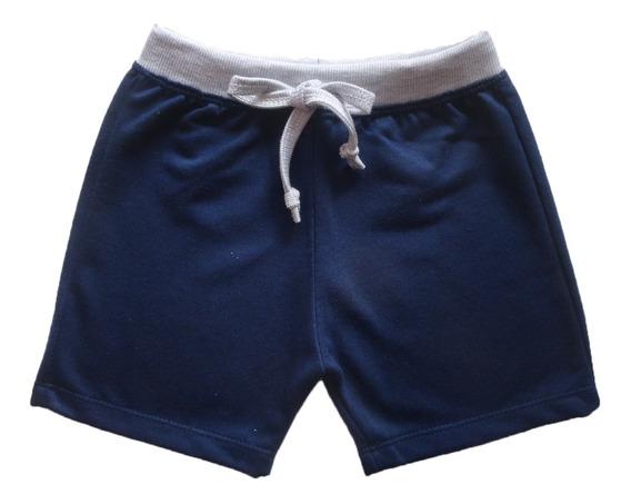 Shorts Short Bebê Menino Moletinho 1 - 2 - 3 Anos