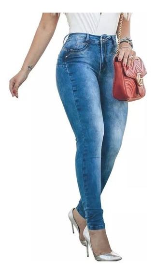 Kit 3 X Calça Jeans Cintura Alta Feminina Hot Pants C/ Lycra
