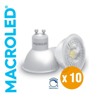 Pack X10 Lampara Dicroica Led Dimerizable 7w Gu10 220v