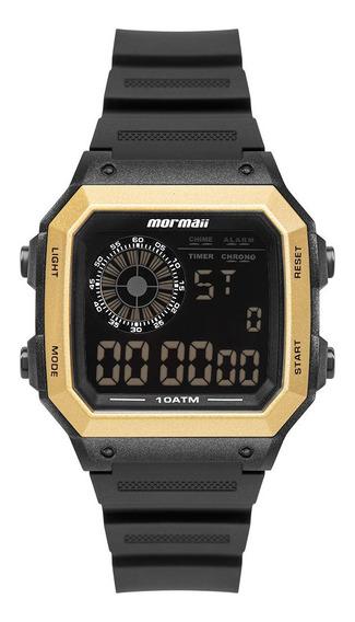 Relógio Mormaii Vibe Masculino Digital Preto E Dourado Surf