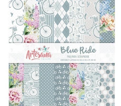 Papeles Para Scrapbook Blue Ride