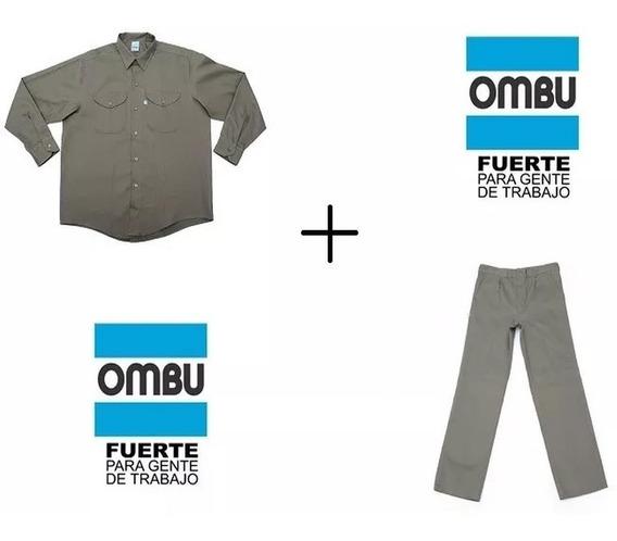 Equipo Camisa + Pantalon De Trabajo Grafa Ombu Original