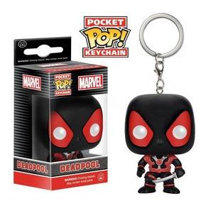 Funko Pop Keychain Deadpool Black Marvel