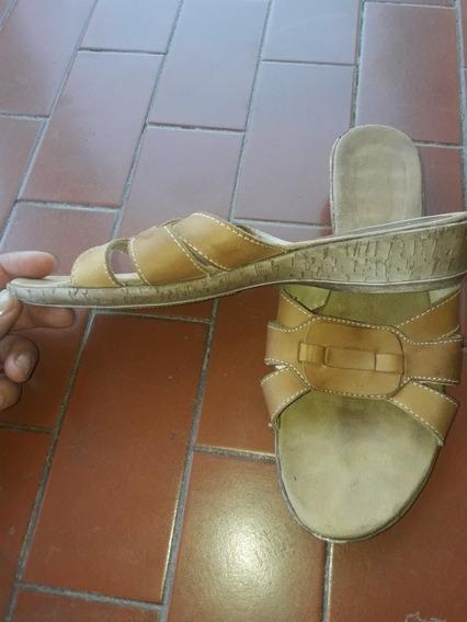 Sandalias Chatitas Cuero Color Suela Calzado En Mercado Libre