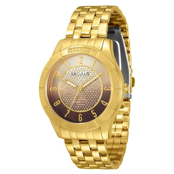 Relógio Seculus Feminino Long Life - 28420lpsvda2
