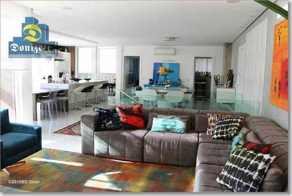 Cobertura Com 3 Dormitórios À Venda, 322 M² Por R$ 2.880.000,00 - Campestre - Santo André/sp - Co0605
