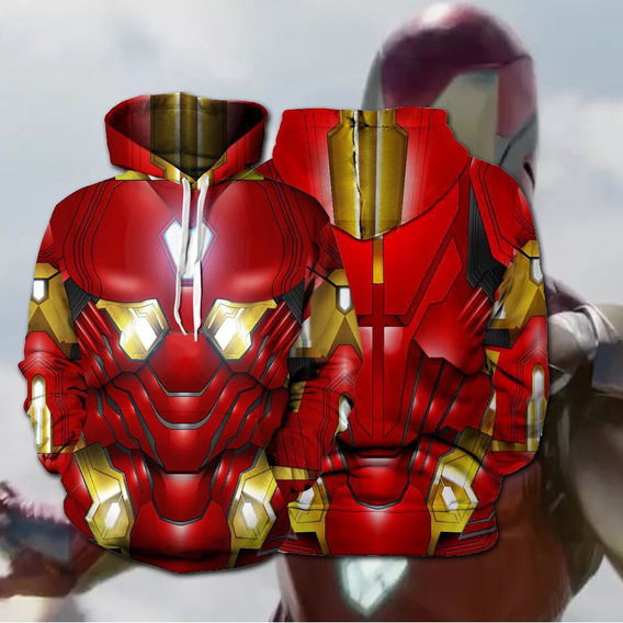 Avengers 4 Endgame Iron Hombre Jersey Sudadera Traje Superhe