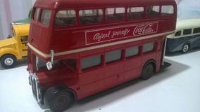 Miniatura Solido Onibus Ingles Double Decker 1/50 Coke
